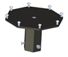 ACC-A531M Mast Mount for -531 series VHF Satellite Antennas