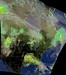 Composite of 2 NOAA-18 passes, Tropical Storm Cristobal, June 8, 2020 - Courtesy of M Penkas (WA8EBM)